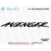 Bajaj Avenger Street 150 Benzin (Yakıt) Deposundaki Avenger Yazısı Etiketi - ADET