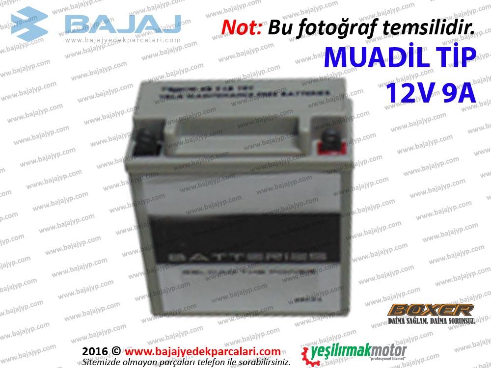 Bajaj Boxer BM150 Aküsü 12V 9A - MUADİL