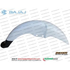 Bajaj Boxer BM150 Ön Çamurluk, Beyaz
