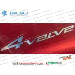 Bajaj Discover 150S Yan Panel Etiketi 4 Valve