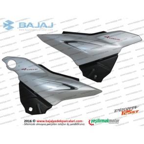 Bajaj Discover 125ST Yan Panel Kapak Takımı (Gümüş Renk)