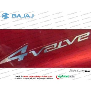 Bajaj Discover 150F Yan Panel Etiketi, 4 Valve, Adet