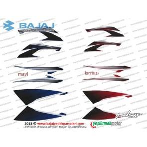 Bajaj Pulsar 200NS Dekoratif Kapak Etiket Takımı