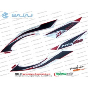 Bajaj Pulsar 200NS Sele Altı Panel Etiket Takımı - KIRMIZI