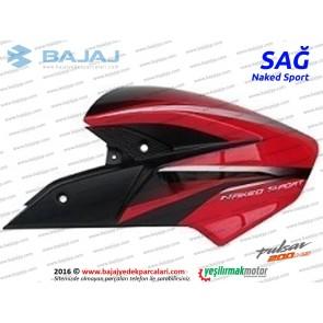 Bajaj Pulsar 200NS Yakıt, Benzin Depo Dekoratif Kapak Sağ - Kırmızı - Naked Sport