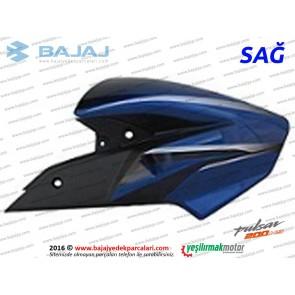 Bajaj Pulsar 200NS Yakıt, Benzin Depo Dekoratif Kapak Sağ - Mavi Tip 1