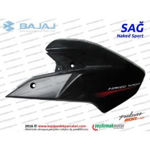 Bajaj Pulsar 200NS Yakıt, Benzin Depo Dekoratif Kapak Sağ - Siyah - Naked Sport