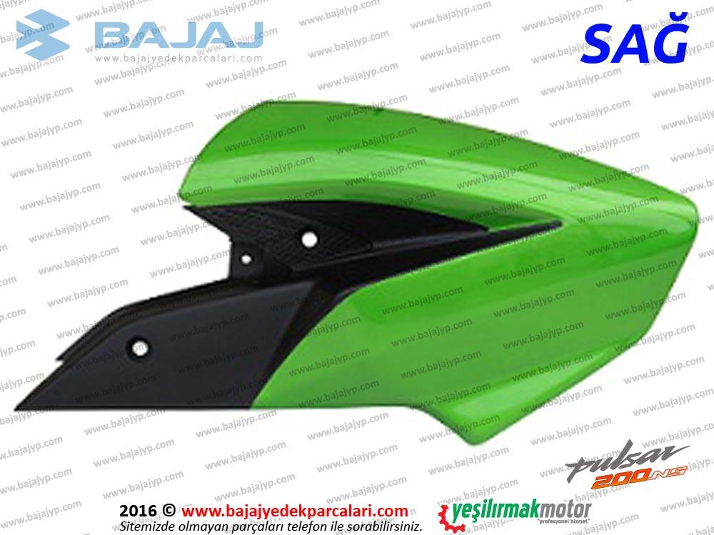 Bajaj Pulsar 200NS Yakıt, Benzin Depo Dekoratif Kapak Sağ - Yeşil