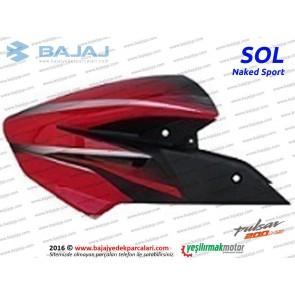 Bajaj Pulsar 200NS Yakıt, Benzin Depo Dekoratif Kapak Sol - Kırmızı - Naked Sport