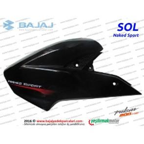 Bajaj Pulsar 200NS Yakıt, Benzin Depo Dekoratif Kapak Sol - Siyah - Naked Sport