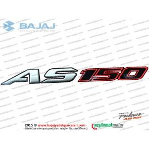 Bajaj Pulsar AS150 Sele Altı AS 150 Yazısı, Etiketi - 1 ADET