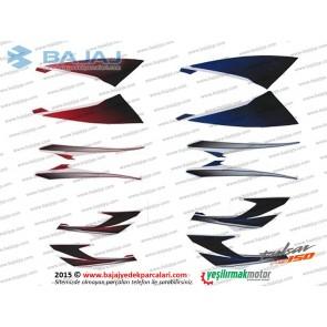 Bajaj Pulsar NS150 Dekoratif Kapak Etiket Takımı