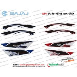 Bajaj Pulsar NS150 Sele Altı Panel Etiket Takımı