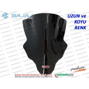 Bajaj Pulsar NS150 Siperlik Camı, UZUN, KOYU RENK