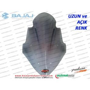 Bajaj Pulsar NS150 Siperlik Camı, UZUN, AÇIK RENK