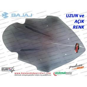Bajaj Pulsar NS160 Siperlik Camı, UZUN, AÇIK RENK