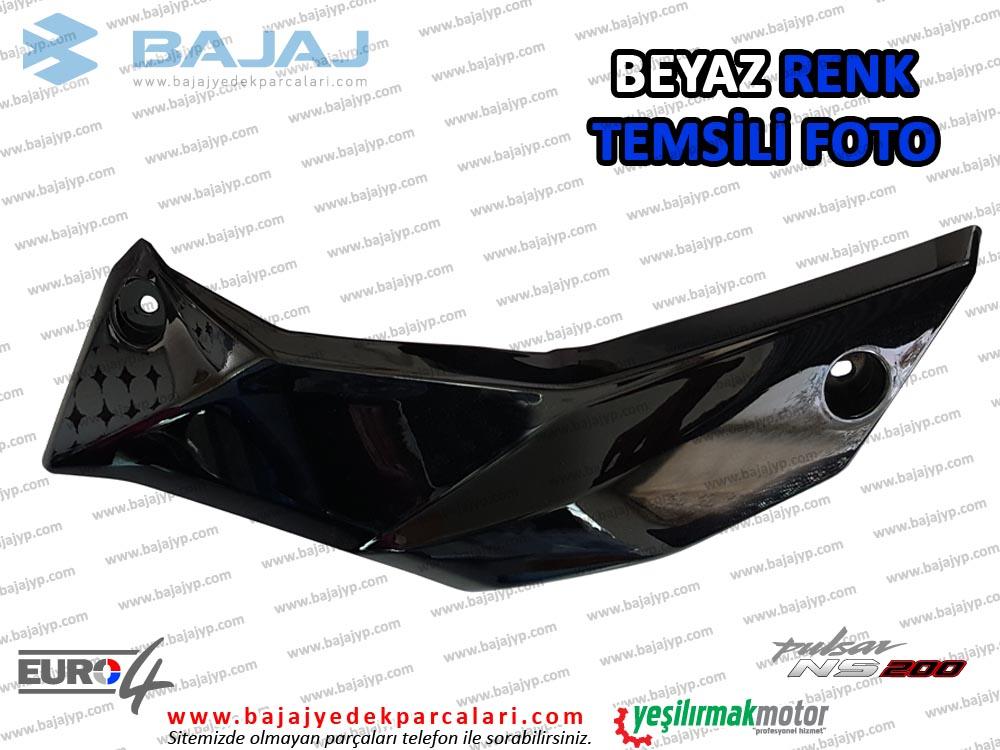 Bajaj Pulsar 200NS Alt Sakal, Dekoratif Kapak - SOL TARAF - BEYAZ