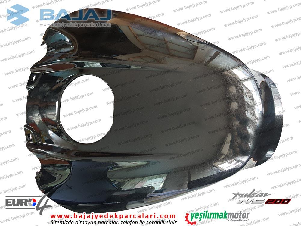 Bajaj Pulsar 200NS Yakıt, Benzin Depo Muhafaza Plastiği Ön Üst - Siyah - EURO4