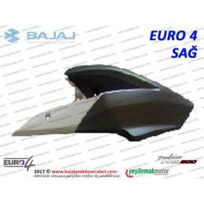 Bajaj Pulsar 200NS Yakıt, Benzin Depo Dekoratif Kapak Sağ - EURO4 - BEYAZ