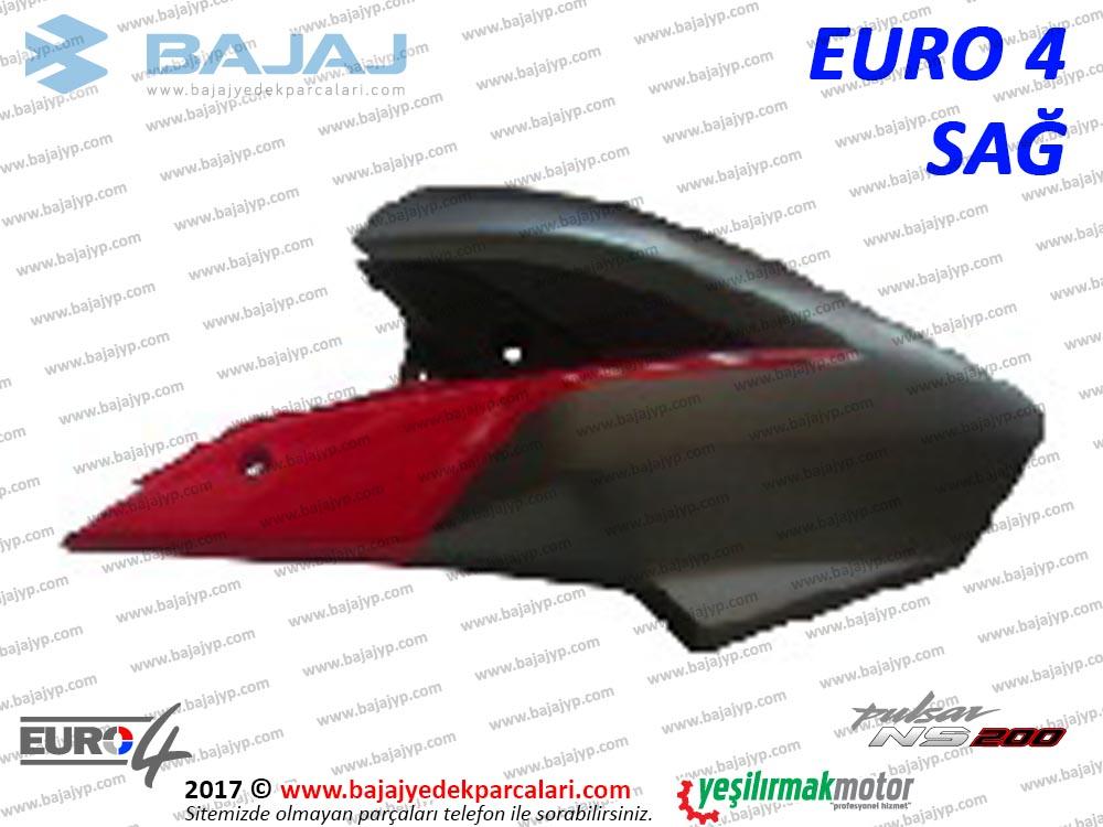 Bajaj Pulsar 200NS Yakıt, Benzin Depo Dekoratif Kapak Sağ - EURO4 - KIRMIZI
