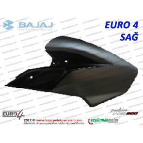 Bajaj Pulsar 200NS Yakıt, Benzin Depo Dekoratif Kapak Sağ - EURO4 - SİYAH