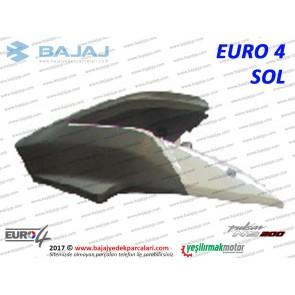 Bajaj Pulsar 200NS Yakıt, Benzin Depo Dekoratif Kapak Sol - EURO4 - BEYAZ