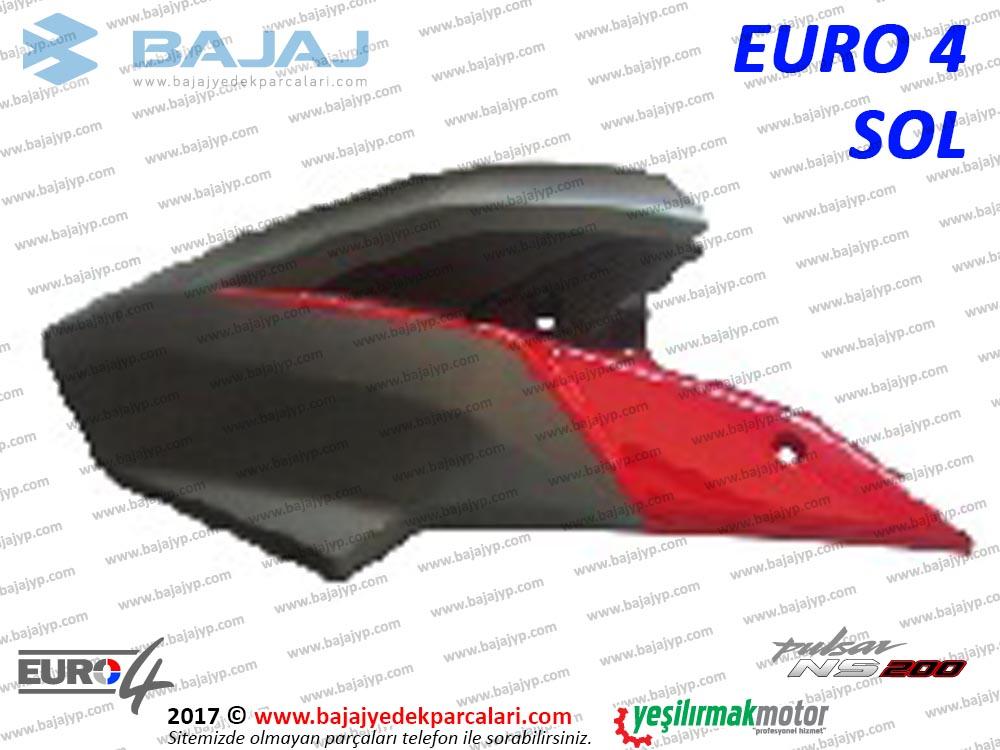 Bajaj Pulsar 200NS Yakıt, Benzin Depo Dekoratif Kapak Sol - EURO4 - KIRMIZI