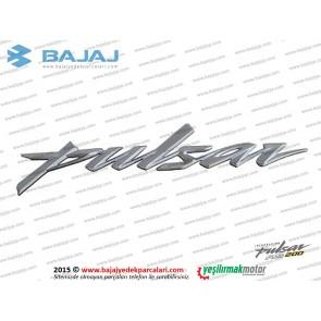 Bajaj Pulsar RS200 Depo Pulsar Yazısı, 1 Adet - GRİ Renk