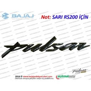 Bajaj Pulsar RS200 Depo Pulsar Yazısı, Adet - Sarı RS200 İçin
