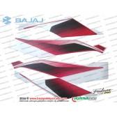 Bajaj Pulsar RS200 Far Muhafazasi Etiket Takımı - KIRMIZI