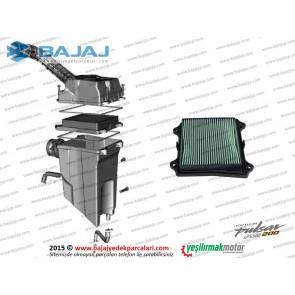 Bajaj Pulsar RS200 Hava Filtresi Komple