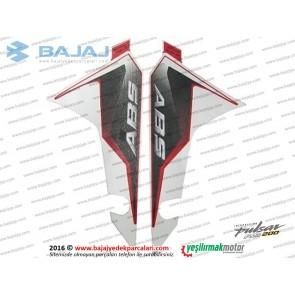 Bajaj Pulsar RS200 Ön Çamurluk Etiket Takımı