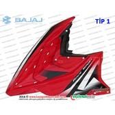 Bajaj Pulsar RS200 Ön Yan Panel, Sol - TİP 1 - KIRMIZI - ETİKETSİZDİR