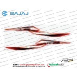 Bajaj Pulsar RS200 Sele Altı Panel Etiket Takımı, Sağ-Sol