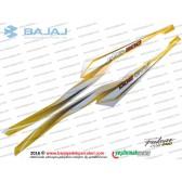 Bajaj Pulsar RS200 Sele Altı Panel Etiket Takımı, Sağ-Sol - SARI