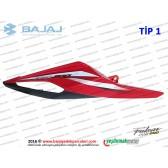Bajaj Pulsar RS200 Sele Altı Panel, Sağ - TİP 1 - KIRMIZI - ETİKETSİZDİR