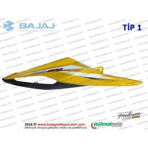 Bajaj Pulsar RS200 Sele Altı Panel, Sağ - TİP 1 - SARI