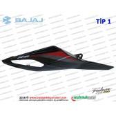 Bajaj Pulsar RS200 Sele Altı Panel, Sağ - TİP 1 - SİYAH - ETİKETSİZDİR