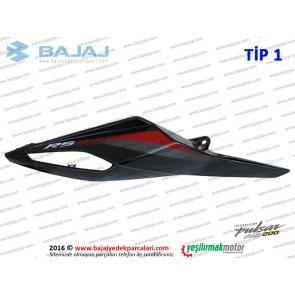 Bajaj Pulsar RS200 Sele Altı Panel, Sağ - TİP 1 - SİYAH