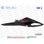 Bajaj Pulsar RS200 Sele Altı Panel, Sol - TİP 1 - SİYAH - ETİKETSİZDİR
