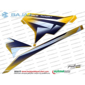 Bajaj Pulsar RS200 Yan Panel Sağ Taraf Etiket Takımı - SARI