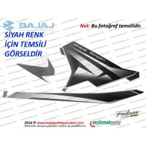 Bajaj Pulsar RS200 Yan Panel Sağ Taraf Etiket Takımı - SİYAH