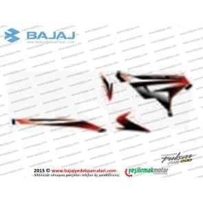 Bajaj Pulsar RS200 Yan Panel Sol Taraf Etiket Takımı