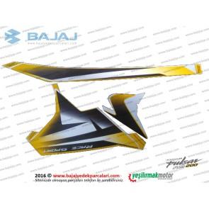 Bajaj Pulsar RS200 Yan Panel Sol Taraf Etiket Takımı - SARI