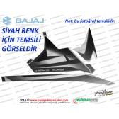 Bajaj Pulsar RS200 Yan Panel Sol Taraf Etiket Takımı - SİYAH