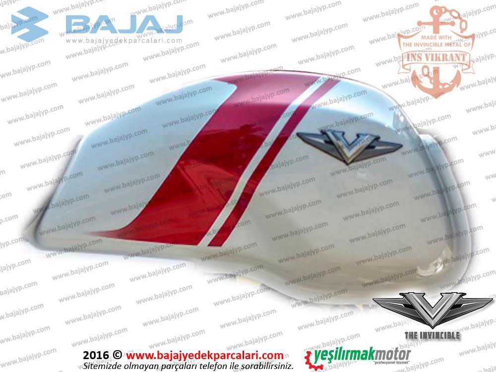 Bajaj V15 Vikrant Yakıt Deposu, Benzin Tankı - BEYAZ