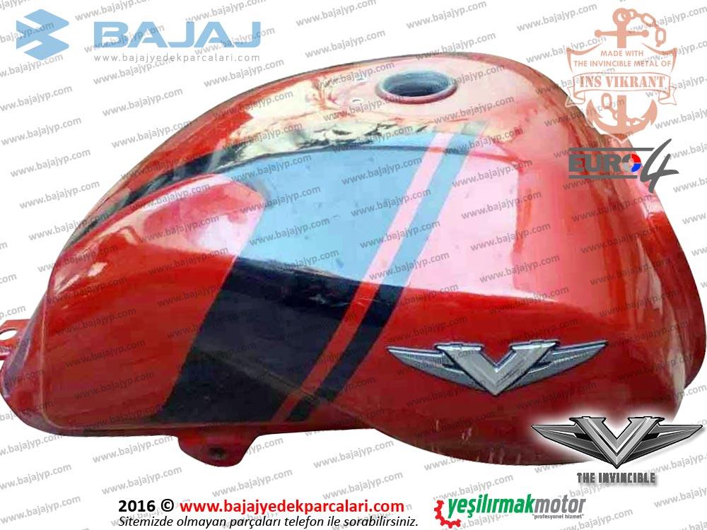 Bajaj V15 Vikrant Yakıt Deposu, Benzin Tankı - KIRMIZI